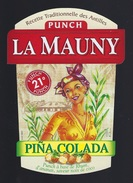 étiquette Rhum   Punch La Mauny Pina Colada - Rhum