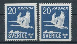 Sweden 1942-1953 Facit # 337 B + B, Type V1 (1953). Glossy Gum, Flying Swans, See Scann, MNH (**) - Nuovi