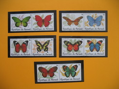 Burundi  Année 1984 Série De 10 Valeur Papillons N° 890 à 899 Neuf** - Burundi
