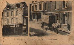 76 - DOUDEVILLE - Place De L'Hôtel De Ville - Maisons J. FROGER - En L'état - Altri Comuni