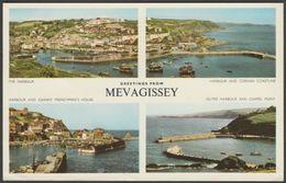 Multiview, Mevagissey, Cornwall, 1960s - Jarrold Postcard - England