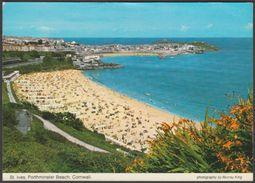 Porthminster Beach, St Ives, Cornwall, 1978 - Murray King Postcard - St.Ives