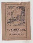 POCHETTE ANCIENNE PHOTOGRAPHIES KODAK / A.Q. TUCKER & CO - OXFORD STREET - W.i. - Pubblicitari