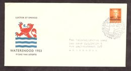 Pays-Bas - Watesnood (inondation) - Belle Enveloppe Premier Jour De 1953 - 1949-1980 (Juliana)