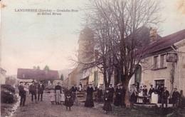 CPA De LANDRESSE (Doubs) - Grande-Rue Et Hôtel Brun. Colorisée. Edition Jules Brun. Circulée. Bon état - Altri Comuni