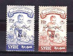 SYRIE - 1958 - PA N° 150 Et 151 - Neufs ** - Journée De L'enfance - TP Surchargés - Cote + 120 - Syrie