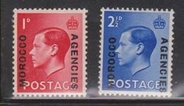 GB MOROCCO AGENCIES Scott # 244-5 MNH - KEVIII Overprinted - Morocco Agencies / Tangier (...-1958)