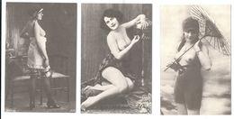 FEMME - DONNA - NUDI - NUDE - EROTIC - EROTICHE -NU-NUE-NUS- EROTIK - 7 CARTOLINE RIPRODUZIONI REPRODUCTIONS - Donne