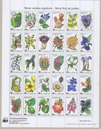 Denmark WWF 1983.  Sheet  With 30 Labels; Flowers And Plants.  Preserve Rain Forest And Life On Earth - Non Classificati
