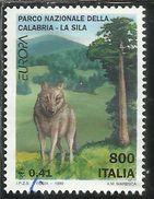 ITALIA REPUBBLICA ITALY REPUBLIC 1999 EUROPA UNITA CEPT PARCO NAZIONALE DELLA CALABRIA LA SILA LIRE 800 USATO USED OBLIT - 6. 1946-.. Repubblica