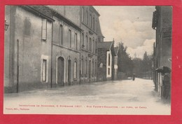 CPA 11 NARBONNE INONDATIONS 1907 RUE FABRE EGLANTINE LE CANAL - Narbonne