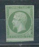 FRANCE N°  12 A Obl. Signé J.F. Brun - 1853-1860 Napoleon III