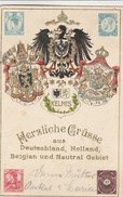 Neutral-Gebiet ,Herzliche Aus Deutschland, Holland, Belgien,( Plombières - Moresnet -Henri-Chapelle) - Blieberg