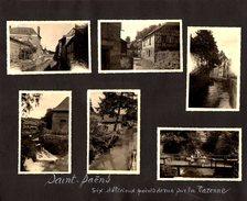 Lot De 9 Photos Sur Page D'Album Saint Saëns 76680  7 Photos Varenne & Eglise - Saint Wandrille 76490 2 Photos - Lieux