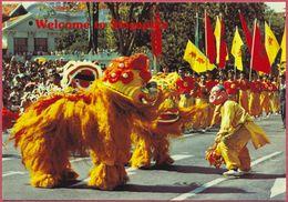 Collection-Singapore(UNC) Old 1975s Welcome To Singapore LION DANCE - A&T JS8 - S'pore-cpc - Singapore