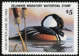 DELAWARE 1991 USA State Ducks Birds Hunting Wildlife Fauna MNH - United States