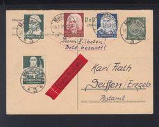 Dt. Reich Expres Antwortkarte 1935 Meißen Nach Seiffen - Briefe U. Dokumente