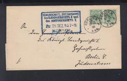 Dt. Reich Falthülle Berlin 1895 Paar - Deutschland