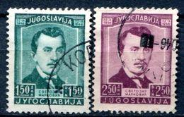 YOUGOSLAVIE - Y&T 453 Et 454 (série Complète) - Gebruikt