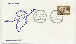 GREENLAND 1980 Public Libraries On FDC.  Michel 123 - FDC