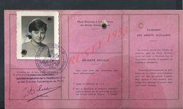 CARTE D ETUDIANTE 1965/66 Melle VENOT REGINE VINCENNES UNIVERSITE DE PARIS : - Cartes