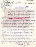 36- CHATEAUROUX- LETTRE VICTOR FERRAN AVEC M. FEUILLERAT DE MARGAUX GIRONDE- VENTE DE VINS- 1910 - Old Professions