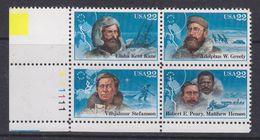 USA 1986 Explorers / North Pole Bl Of 4  ** Mnh (37173E) - Verenigde Staten