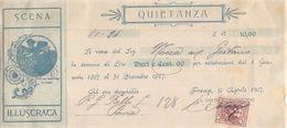 15681  QUIETANZA FIRENZE 1907 - PUBBLICITA SCENA ILUSTRATA - Italia
