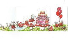 Double Cpm - Illustration Sophie Turrel - Souris Rat Mouse Gâteau Champignon Coccinelle Ballon - Animali Abbigliati