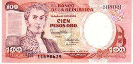 Colombia P.426 100 Pesos 7-8-1991 Unc - Colombia