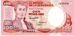 Colombia P.426 100 Pesos 1987  Unc - Colombia