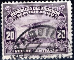 ECUADOR 1929 Air. Ryan B-5 Brougham Over The River Guayas - 20c - Purple  FU - Ecuador