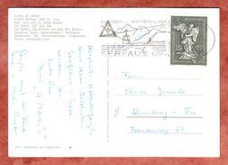 AK Hotel St. Zeno Serfaus, EF Bildhauerfamilie Schwanthaler Reichersberg, MS Seilbahn, Nach Hamburg 1974 (44391) - 1945-.... 2. Republik
