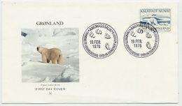 GREENLAND 1976 Polar Bear Definitive 5 Kr. On FDC.  Michel 96 - FDC