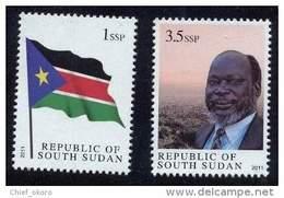 Sud-Soudan South Sudan Süd-Sudan 2011 Drapeau Flag Flagge President Head Of State Independence Full Set Mnh - South Sudan