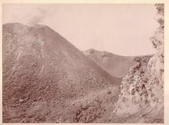 Foto Albumina 10283 Contorni Di Napoli Vesuvio Veduta Del Cratere E Della Vallata - Non Classificati