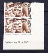 Wuerttemberg, Mi 13, Zwiefalten, Druckdatum 27.8.1947, Postfrisch (44398) - Zone Française