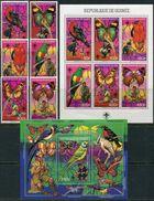 Guinee 1988. Michel #1208/13+Klb.+Bl.#305+Bl.#306/11-A MNH/Luxe. Birds. Butterflies. Scouts. (B25) - Zonder Classificatie