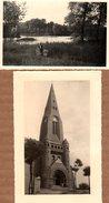 2 Photos Originales Pas-de-Calais - Oisy-le-Verger (62860) - église Saint-Didier & Marais - Luoghi