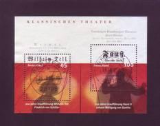 Germania 2004 - Teatro, Guglielmo Tell E Faust, BF64 Con Annullo Rotondo - [7] Repubblica Federale