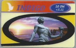 DE.- INTERNATIONAL PHONECARD - INDIGO - 10 DM / € 5,11. - 2 Scans. - Duitsland