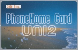 ES.- INTERNATIONAL PHONECARD - Telefonica. PHONEHOME CARD UNI2. - 2000 Ptas -  2 Scans. - Andere