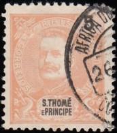 ST. THOMAS & PRINCE ISLAND - Scott #40 King Carlos / Used Stamp - St. Thomas & Prince