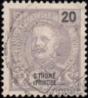 ST. THOMAS & PRINCE ISLAND - Scott #44 King Carlos / Used Stamp - St. Thomas & Prince