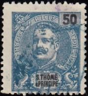 ST. THOMAS & PRINCE ISLAND - Scott #47 King Carlos / Used Stamp - St. Thomas & Prince