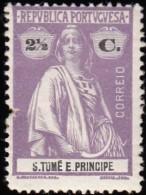 ST. THOMAS & PRINCE ISLAND - Scott #201 Ceres / Mint H Stamp - St. Thomas & Prince