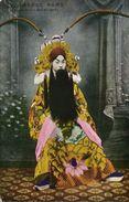 China, Native Chinese Actress With Long Beard, Costume Dress (1910s) Postcard - China