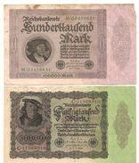 Allemagne - 1918 / 1933 - Lot De 2 Billets  -  Billets ° - [ 3] 1918-1933 : République De Weimar