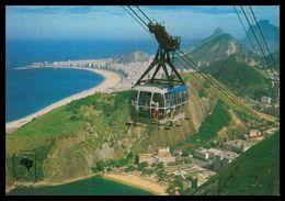 RIO DE JANEIRO-Panorama Visto Do Alto Do Pão De Açucar,Praia Vermelha E Copacabana(Ed. Edicard Nº350-119)  Carte Postale - Rio De Janeiro
