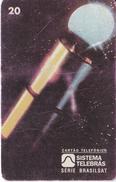 TARJETA DE BRASIL DE UN SATELITE (SATELLITE-SATELITE) - Astronomy